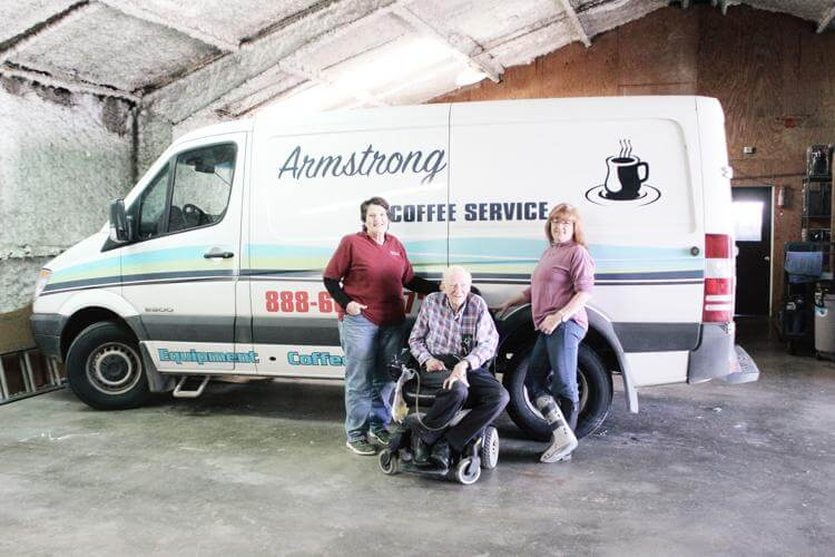 Armstrong Coffee Service van